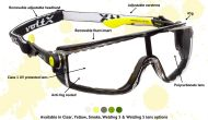 QUAD 4 in 1 Safety Glasses